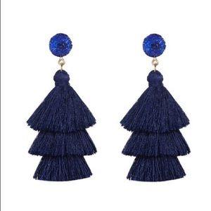 Boho Stone Tassel Earrings